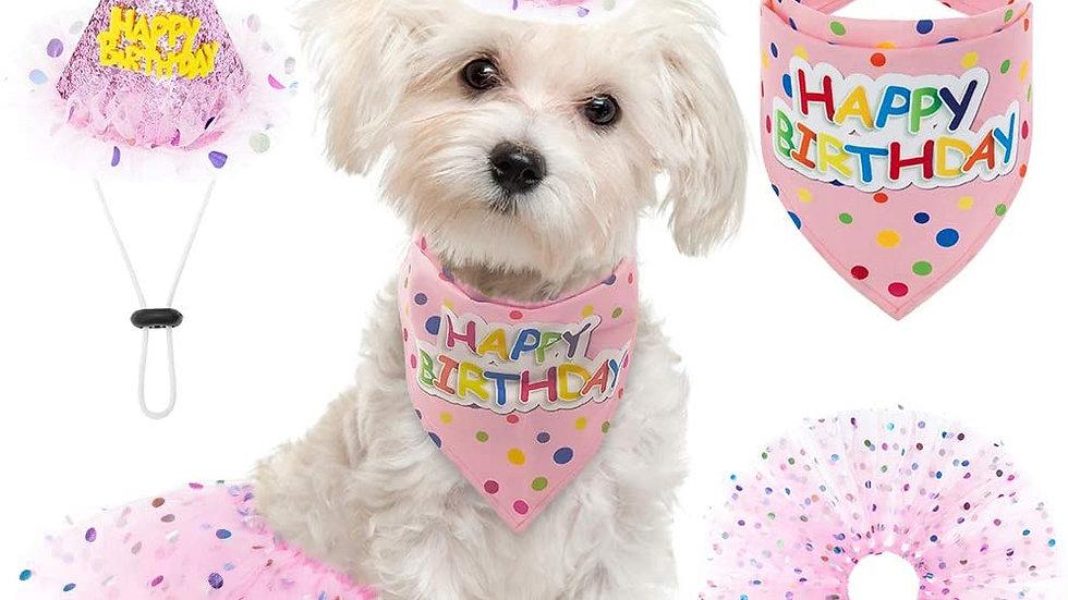 Girls Pink Princess Birthday Tutu Set