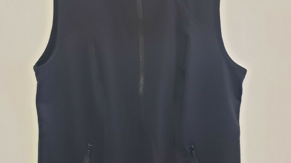 Zenergy by Chico's Black Zip Front Collared Side Panel Vest