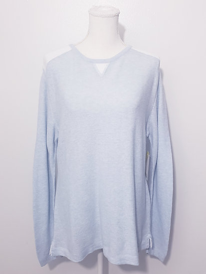 Debra C Carmel 100% Pima Cotton Round Neck Long Sleeve Top