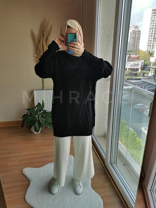 Yumuş Triko Tunik Siyah