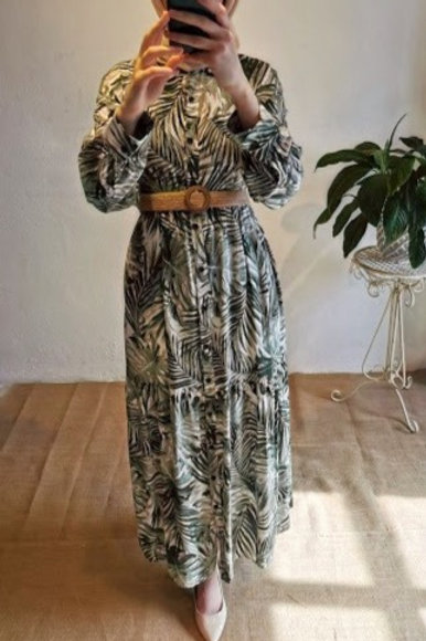 Palmiye Desen Elbise