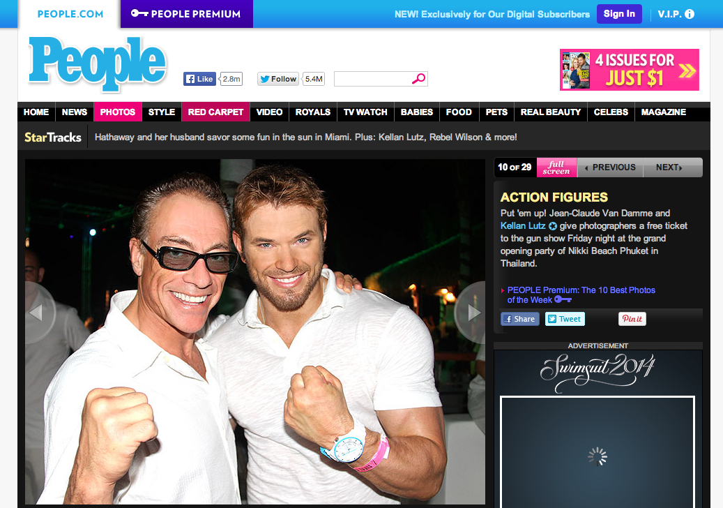 People Magazine - Van Damme & Lutz
