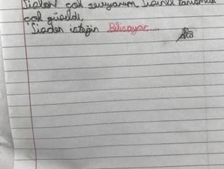 Kızıldam İlköğretim Okulu Öğrencilerinin Minik Ellerinden Mektup