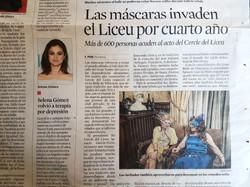 Máscara Flores en La Vanguardia.