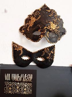 Máscaras Puntilla Oro