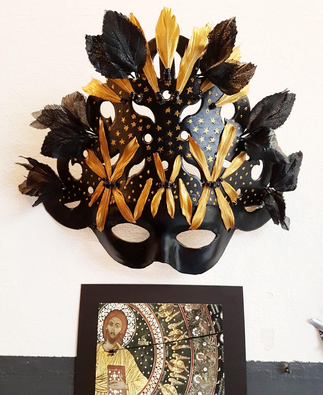 Máscara cúpula Pantocrator