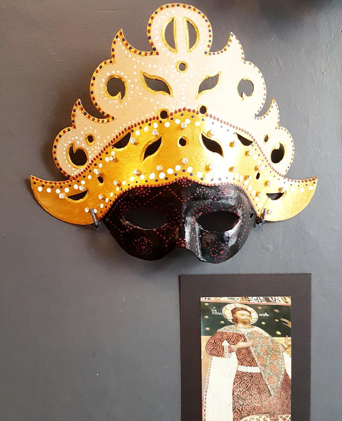 Máscara estampados Bizantinos