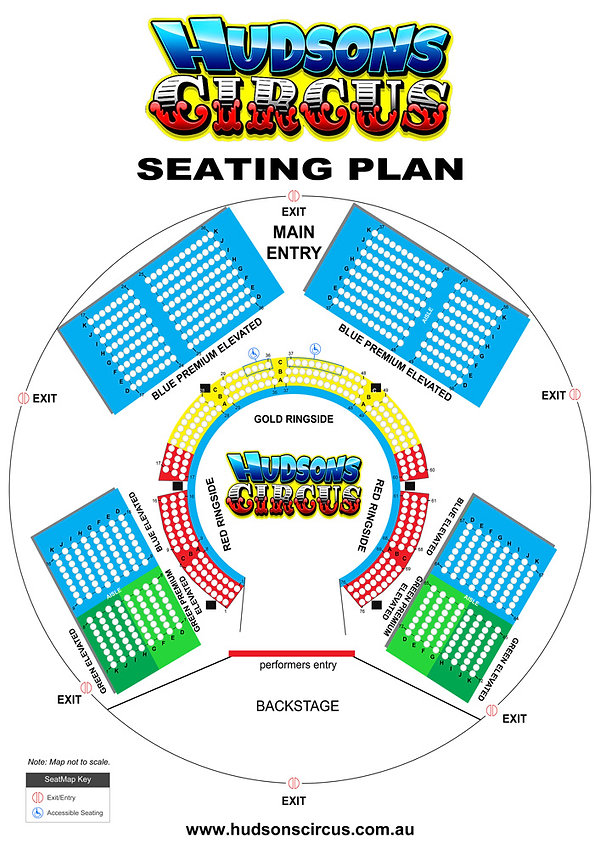 2019 Hudsons Circus Seating plan