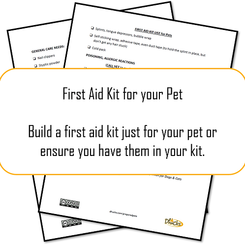 Step 8: First Aid Kit List for your Pet