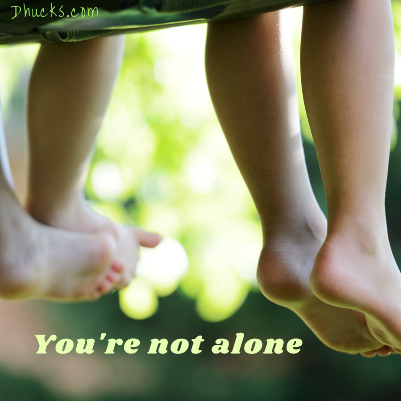 You won't be alone. legs of two kids sitting side by side