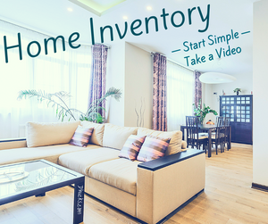 Home Inventory - Start Simple by taking a video - image of a living room