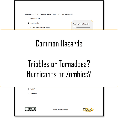 Part I: List of Common Hazards