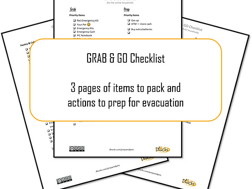 Appendix D: Grab & Go Checklist (Household)