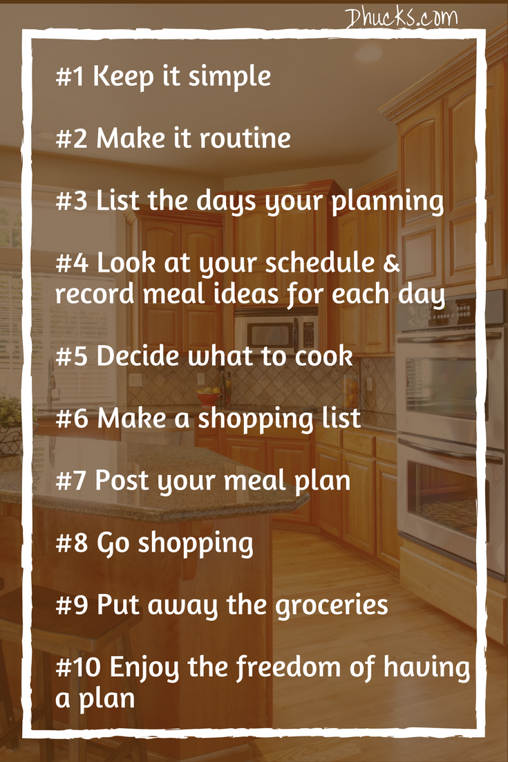 10 steps to planning your meal - meal planning