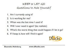 Keep or Let Go — Questions to Ask Yourself