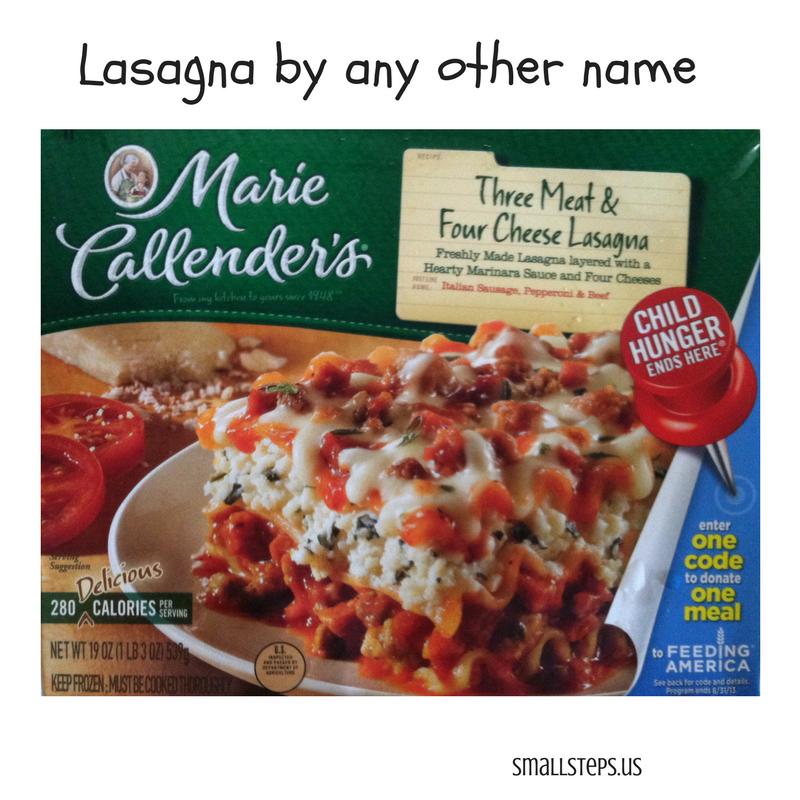 Marie Callender's Lasagna