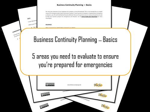 Appendix O: Business Continuity Planning Basics