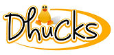 Dhucks logo - the word Dhucks and a small duck inside a swoop
