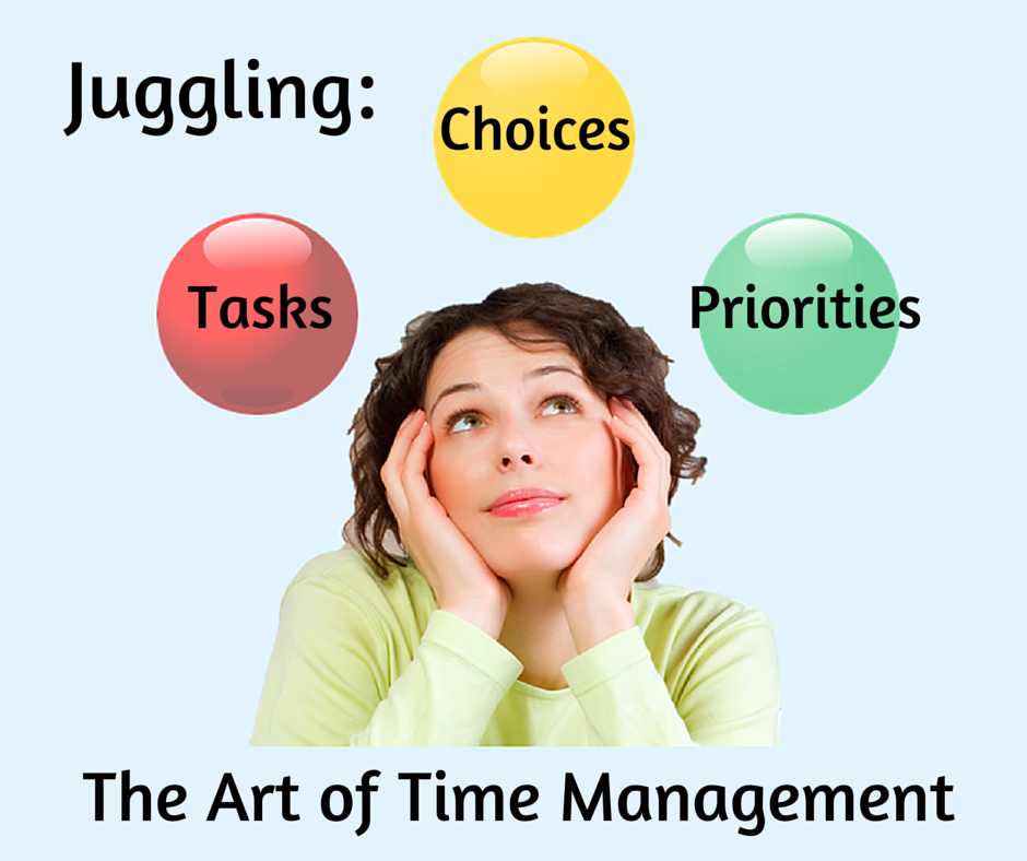 Juggling Tasks Choices Priorities: the art of time management