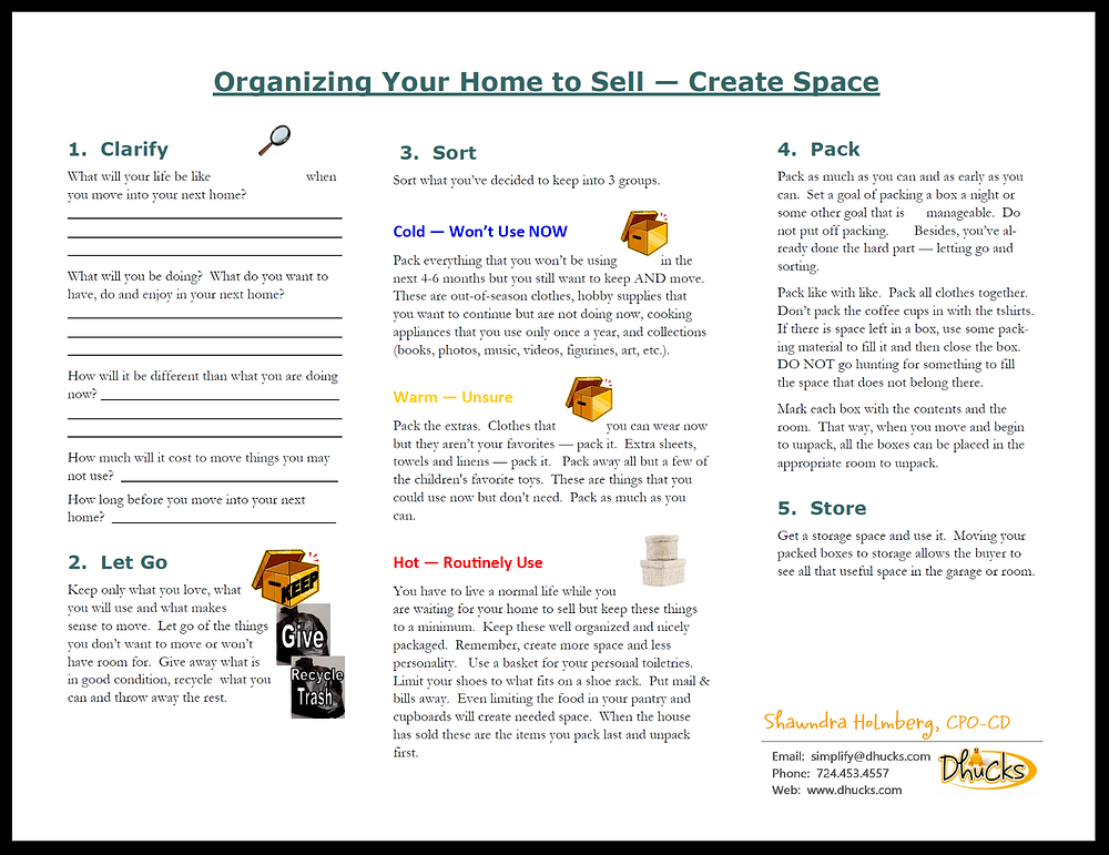 Organizing Your Home to Sell PDF FREE with the Promo Code 'FREE'