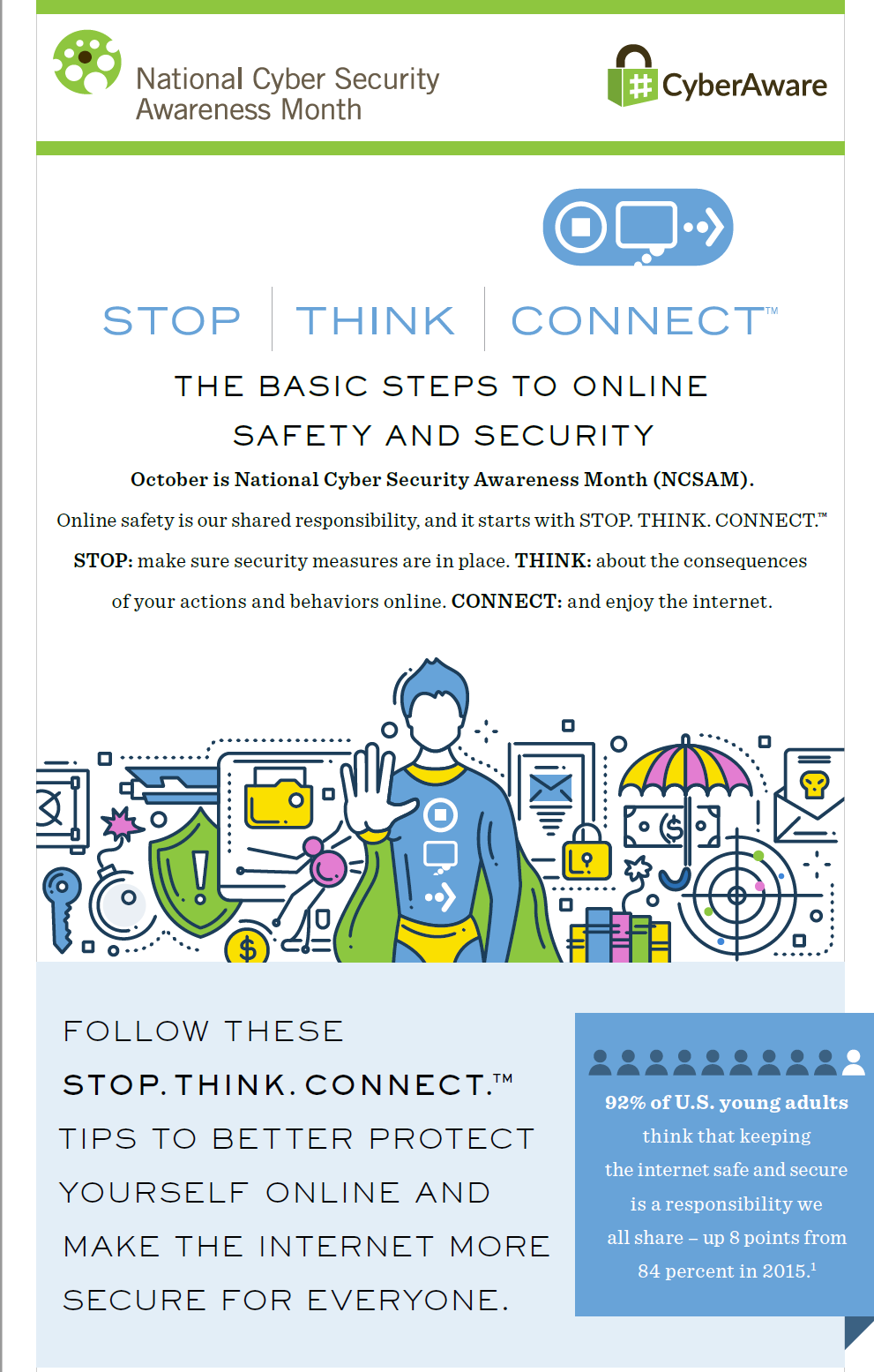 Tips to Online Safety and Security infograph