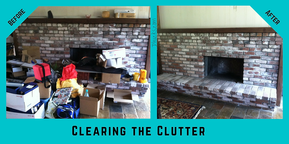 Before and After Pictures - 10 Steps to Clearing the Clutter
