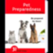 Pet Preparedness 3D book draft cover on