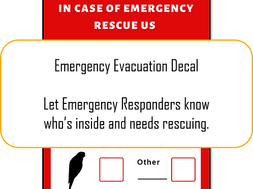 Emergency Evacuation Decal - FREE