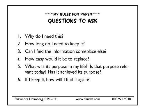 Paper Questions