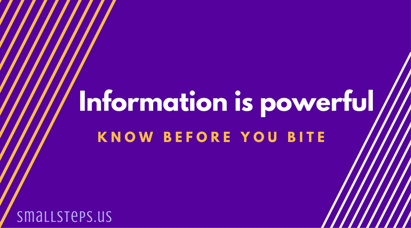 information is powerful - know before you bite