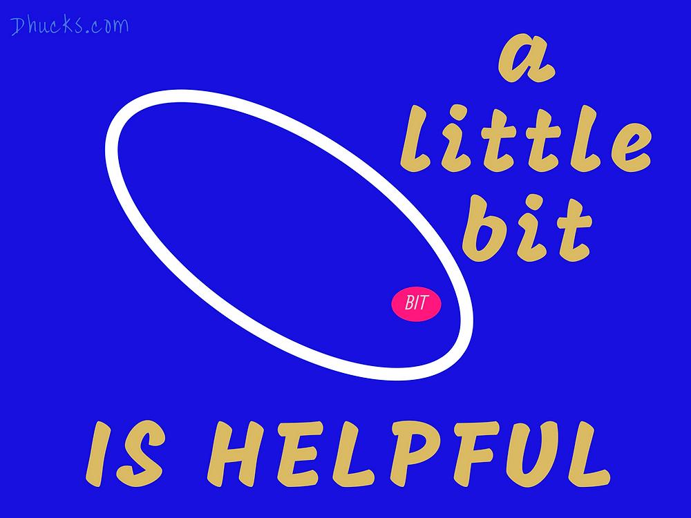 a little bit is helpful on a blue background