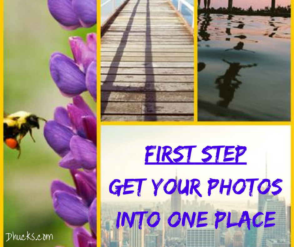 photo collage - FIRST STEP get your photos into one place