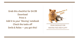 Downloadable Moving Checklist for Fido and Fluffy (pets)