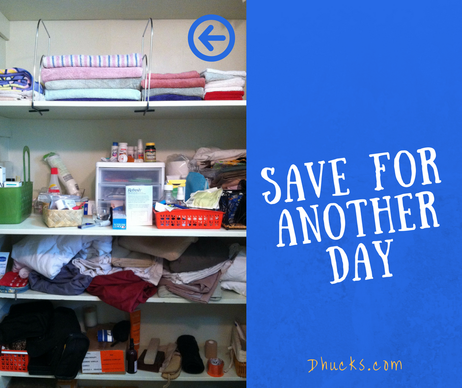 Focus: ONE shelf at a time - save the rest for another day