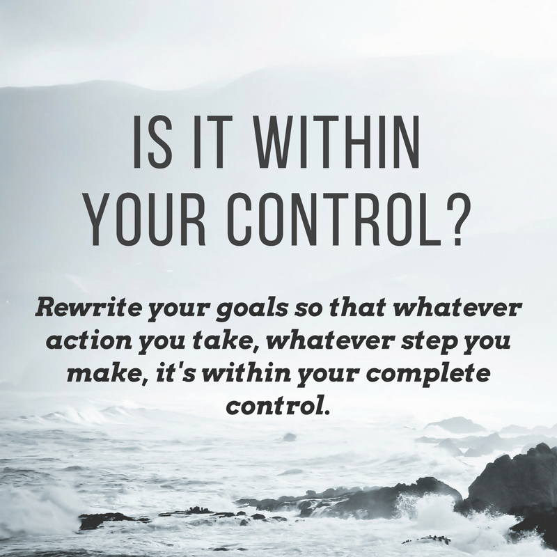 Is it withing your control? - goal hack for the holidays