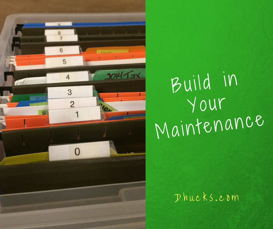 Hanging file folders labeled 0 through 9 -  Build in your Maintenance
