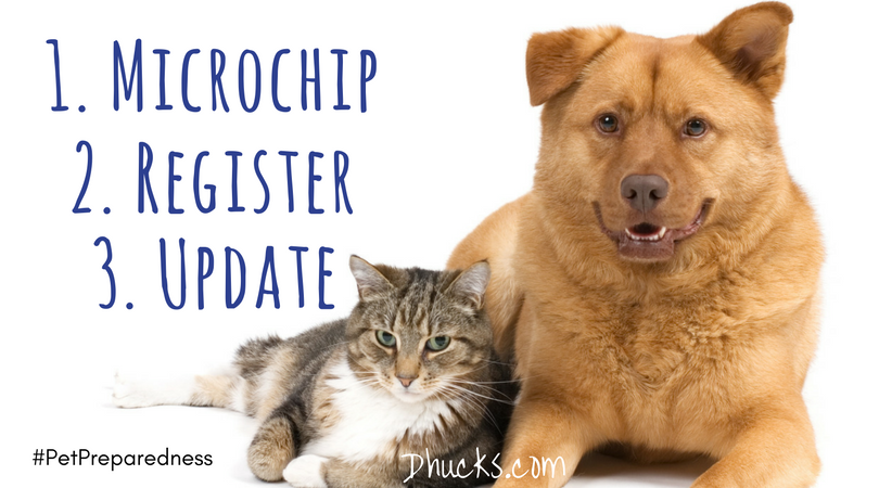 Pet Preparedness: Microchip, Register, Update (#petpreparedness)
