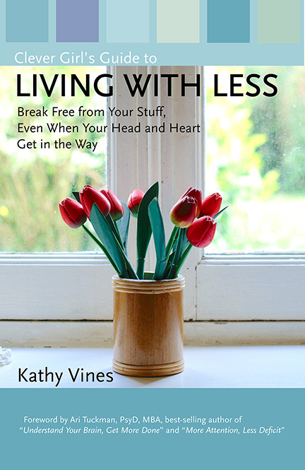 Living with Less by Kathy Vines book cover