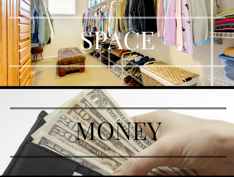 The cost of clutter in your closet - space, money, time, energy