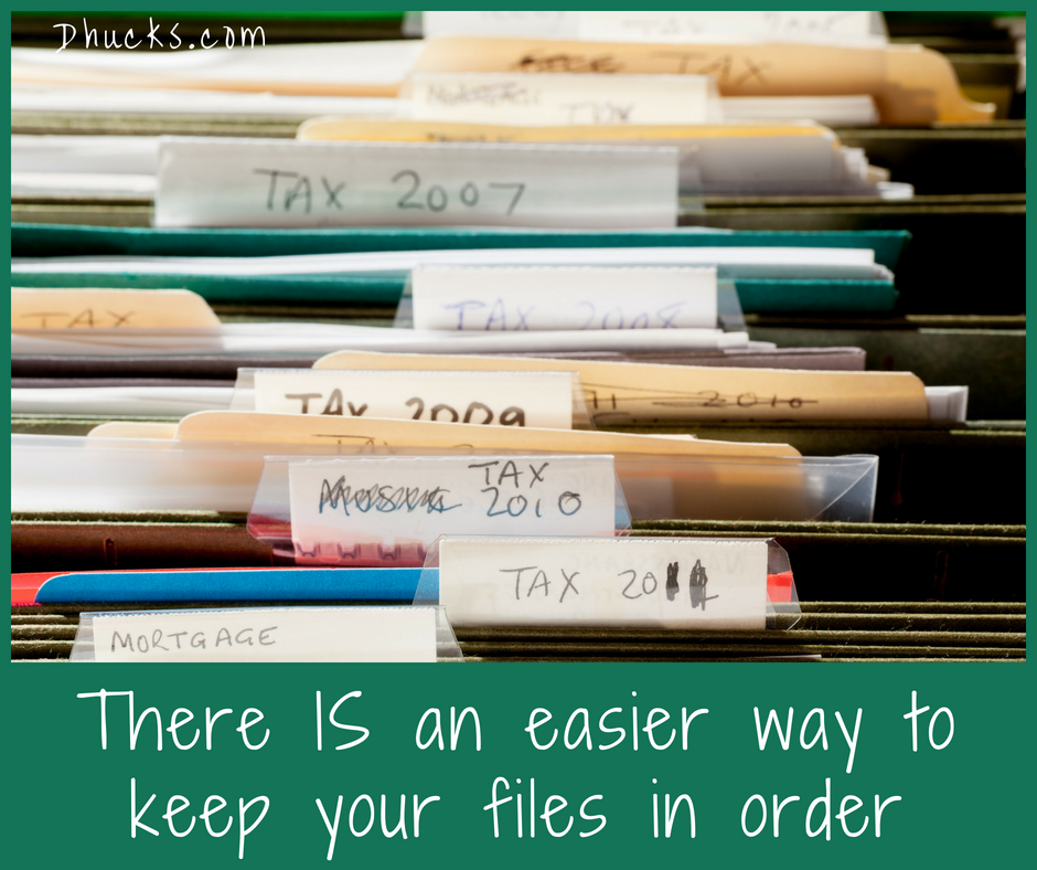 There is an easier way to keep your files in order
