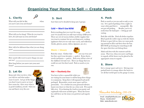 Organize Your Home to Sell
