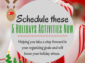 Schedule These 5 Holiday Activities Now