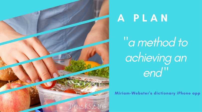 meal planning - woman making a healthier sandwich - a plan is a method to achieving an end (definition from Miriam-Webster's dictionary iphone app
