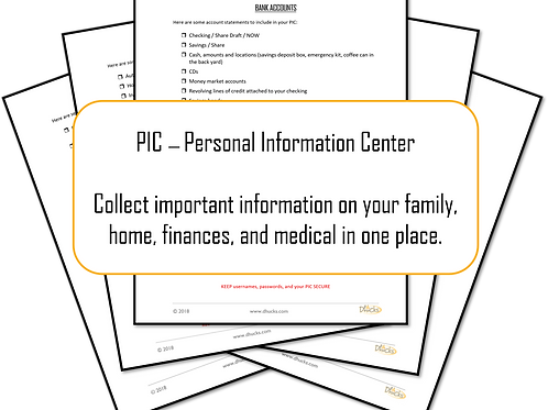 Step #11:   Personal Information Center (PIC) Documents