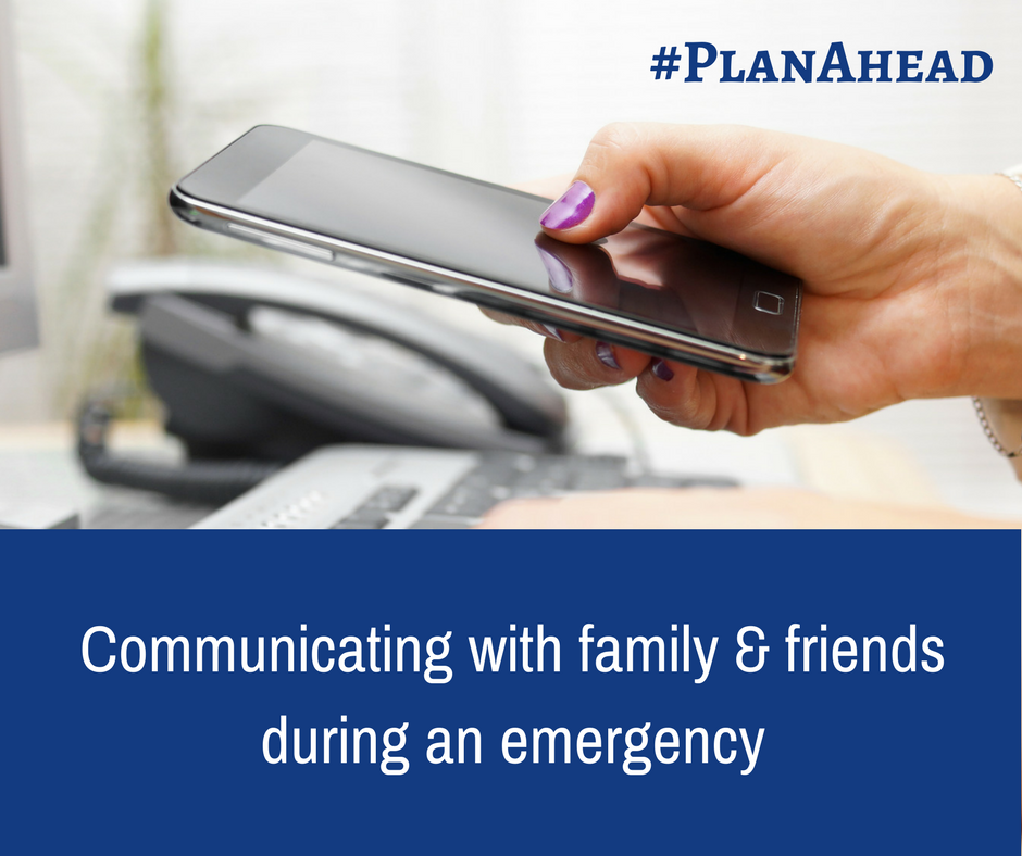 cell phone and landline - communicating with friends and family during an emergency #planahead