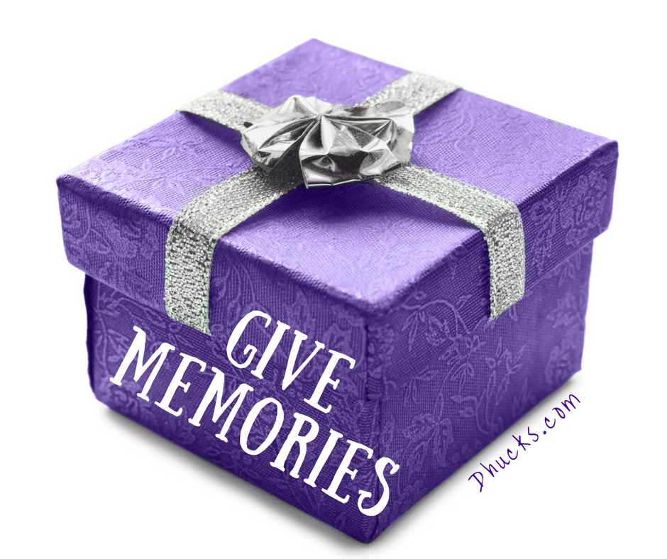 gift box wrapped in purple with silver bow - GIVE MEMORIES