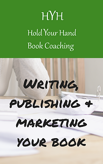 desk with paper and label HYH Hold Your Hand Book Coach
