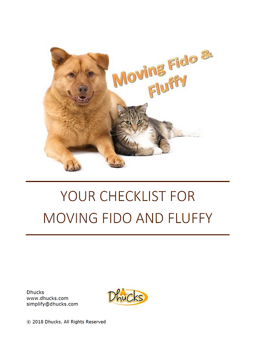 Your Checklist for Moving Fido & Fluffy