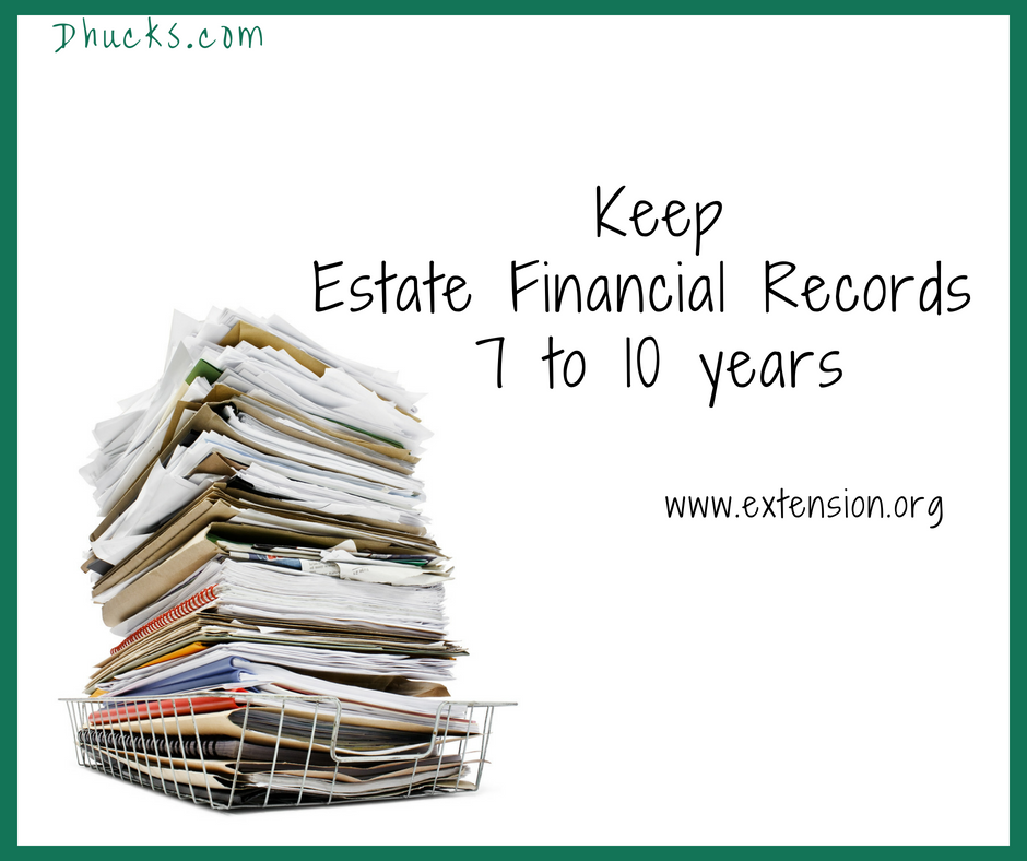 Keep Estate Financial Records