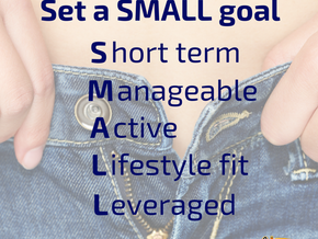 Set a SMALL goal